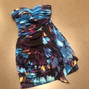 Bebe Strapless Cocktail Dress